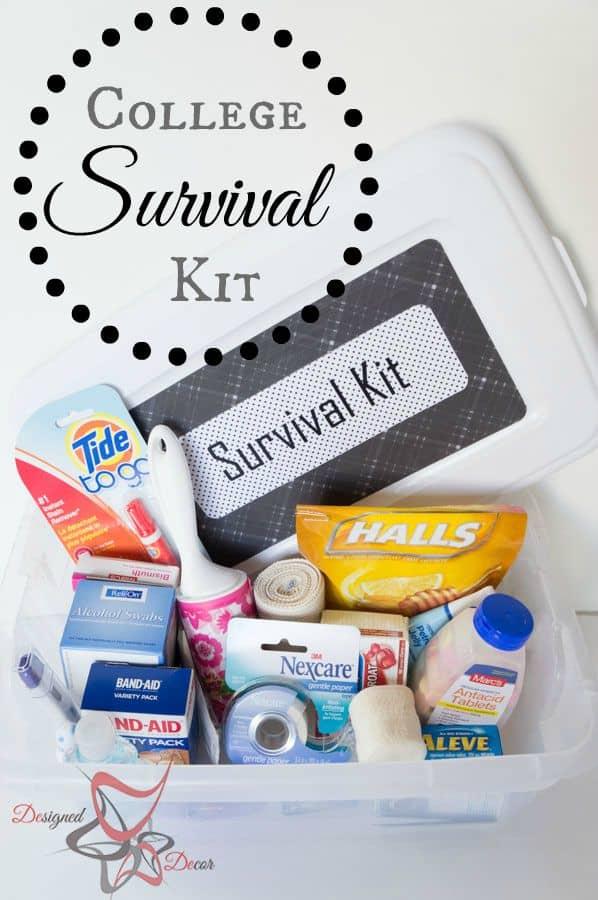 College Survival Kit Designed Decor