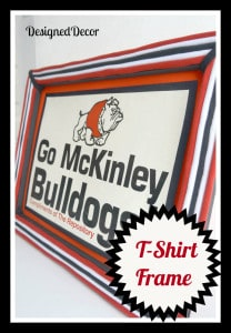 repurposed t-shirt picture frame