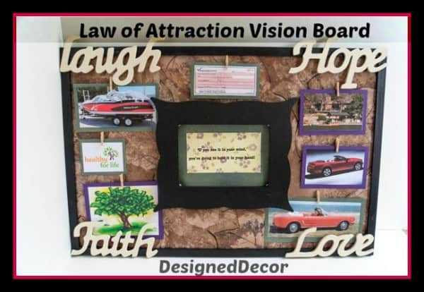 Law of Atracttion Vision Board-Pin