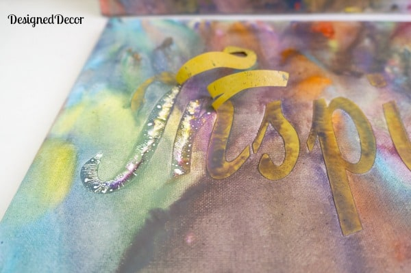 removing lettering from canvas on crayon art