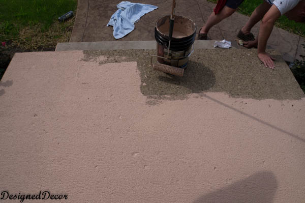 Applying Rust-Oleum Restore Deck and Concrete to my Front Steps ...