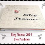 Downloadable Blog Planner