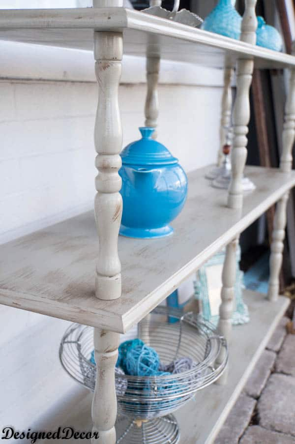 Painting an outdated 3 tier shelf unit to give it a second for Shelf life of paint