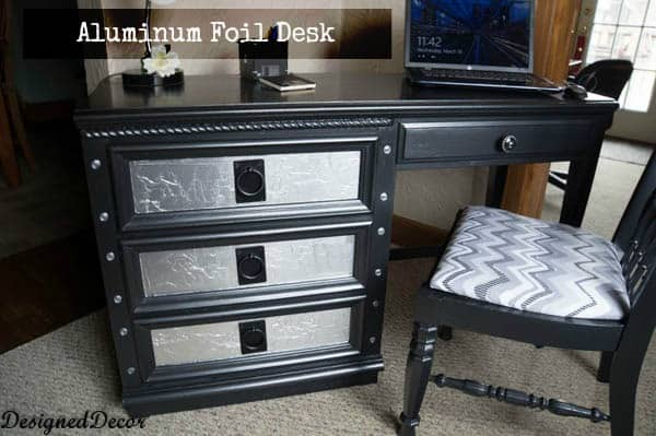 Aluminum Foil Desk Designed Decor