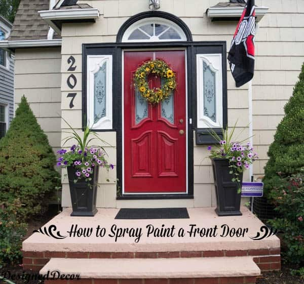 How to spray paint the front door designed decor for How to spray paint doors