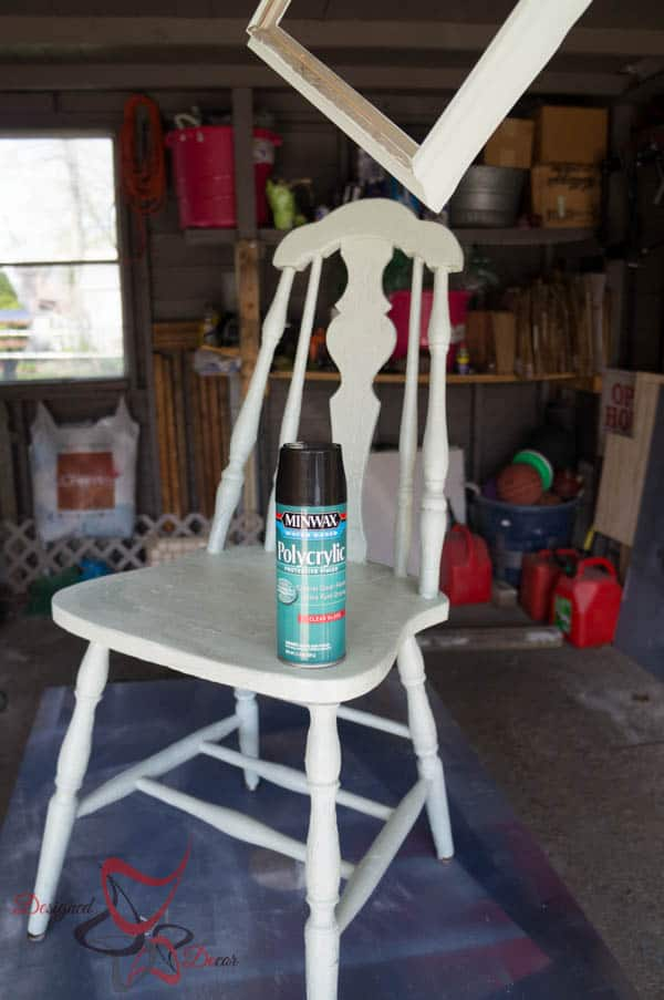 Sealing a  Tissue Paper Chair with Polycrylic