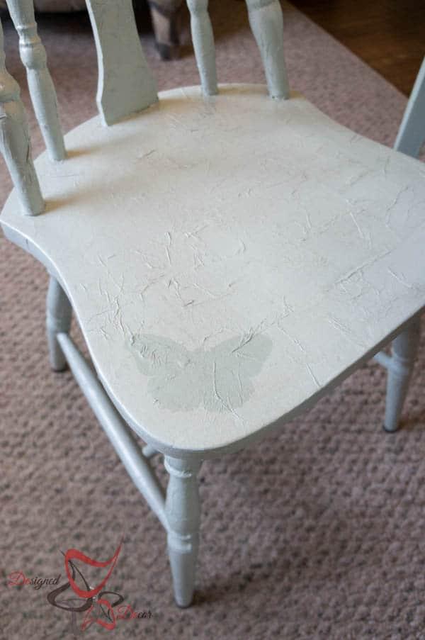 Tissue paper decoupage chair designed decor for Furniture decoration paper