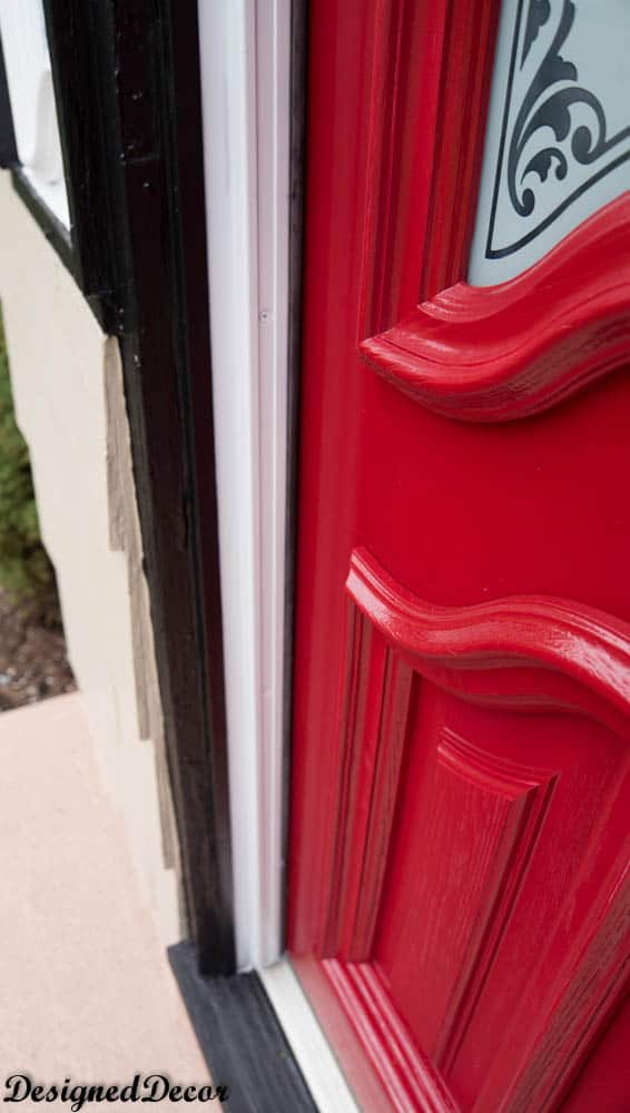 How To Spray Paint The Front Door Designed Decor