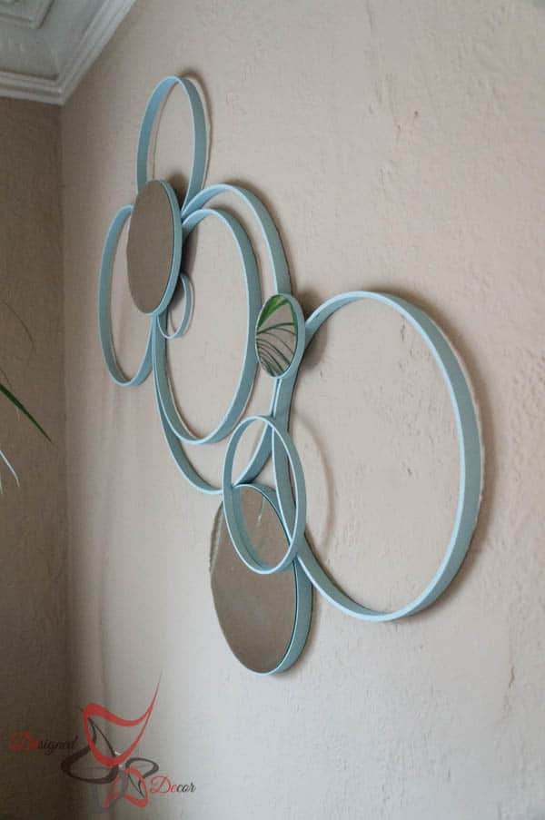 circle wall decor with embroidery hoops designed decor