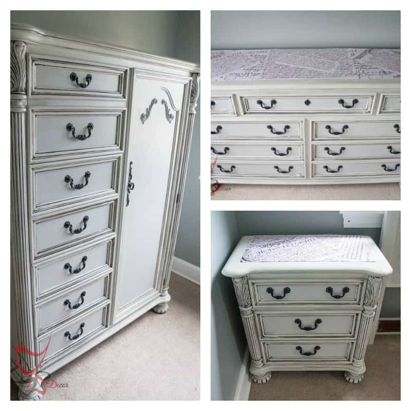 Guest Bedroom Update French Decoupage Furniture