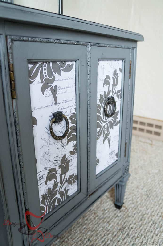 French Decoupage Cabinet Designed Decor