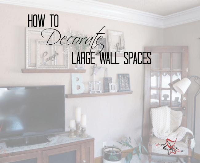 How to decorate a large wall designed decor - Decorated walls living rooms ...