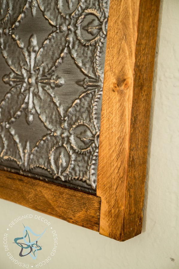 Homemade Rustic Wall Decor : Diy rustic metal tile wall decor designed