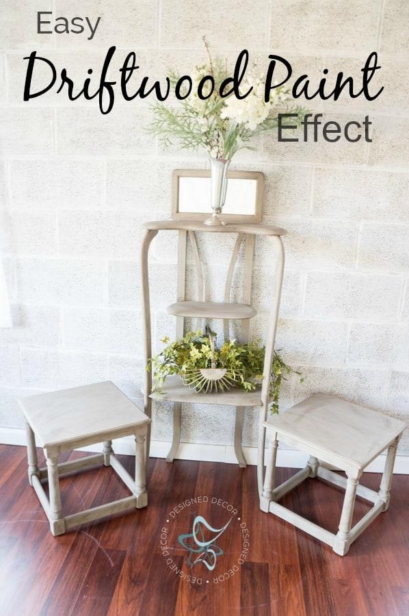 Driftwood Paint Effect Designed Decor